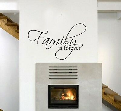 Family is Forever Wall Stickers Quote Decal Art Vinyl Mural Home Decor Removable