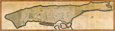 GIANT 1807 New York City Map Old Antique NYC Map Manhattan old map of New York