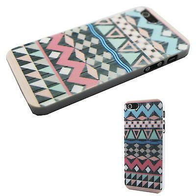 Fashion Geometry Color Strip Mark Hard Back Shield Case Cover for Apple iPhone 5