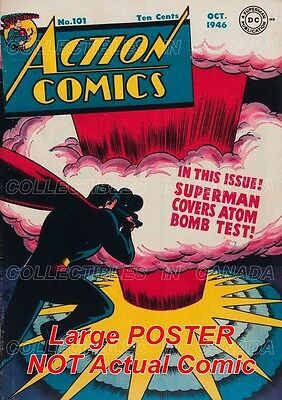 "ACTION COMICS 1946★ Superman ATOM BOMB Camera★19"" POSTER = Not Actual Comic Book"