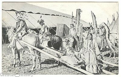 Circus Buffalo Bill Wild West show Indians Horse Drawn Travois 1903 EUROPE