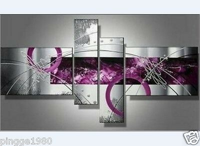 4pc Hand painting Handicraft HUGE CANVAS OIL PAINTING  (NO frame)P083