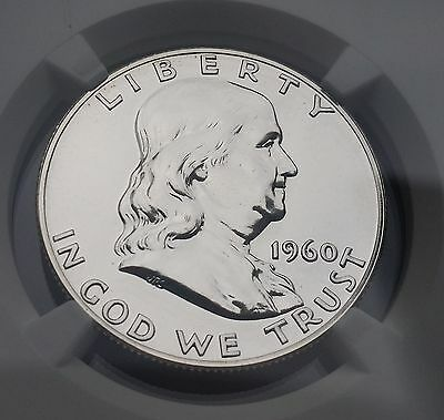 1960 US Franklin Half Dollar Silver Proof Coin NGC PF66 Beauty
