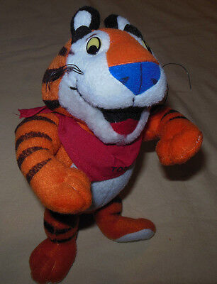 """Vintage 1997 Kelloggs Frosted Flakes Tony The Tiger Stuffed 8"""" Toy Rare Item"""