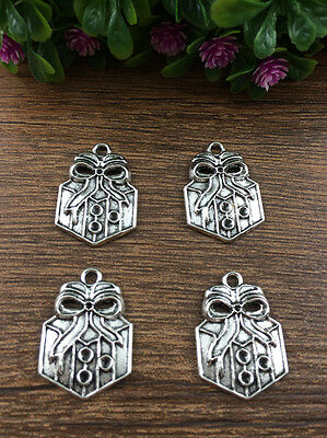 Vintage 6pcs Tibet silver Christmas Gifts Pendant beaded Jewelry Findings