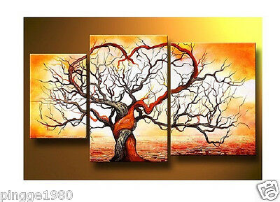 3pc Modern Abstract Huge Art Oil Painting Canvas-Tree (NO frame) P066