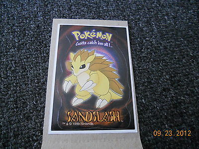 A&A Global Stickers Vending Machine 1999 Nintendo Pokemon Sandslash