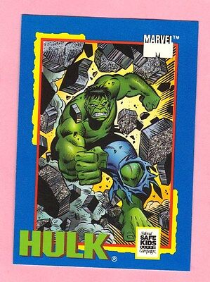 HULK Marvel Comic Trading Card Treats 1991 Impel National Safe Kids Bruce Banner