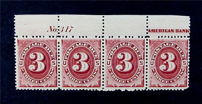 nystamps US Postage Due Stamp # J24 Mint OG NH $720 P# Strip Of 4 Margin Hinge