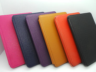 Genuine Amazon Kindle Paperwhite Leather Cover Case - Black/Blue/Red/Purple/Tan