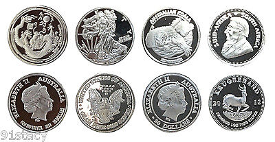 4x (Four) Pure Solid Fine .999 Silver 1 Gram Bullion Investment Rounds