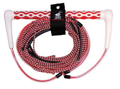 """Airhead Dyna-Core Wakeboard Waterski Rope 3 section 15"""" Handle c/w RopeTidy"""