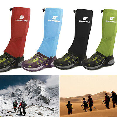 Waterproof Outdoor Climbing Hiking Snow Ski Shoe Leg Cover Boot Legging Gaiters