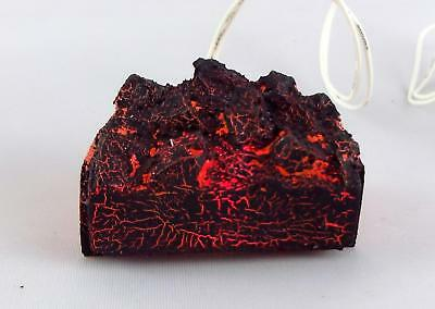 Dolls House Glowing Coal Fire Miniature Fireplace Accessory 1:12 12V Light up