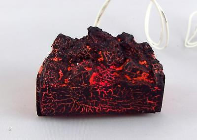 Melody Jane Dolls Houses Glowing Coal Fire Miniature Fireplace 1:12 12V Light Up