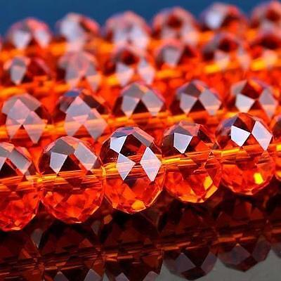 100pc 3x4mm Red Swarovski Crystal Loose Bead