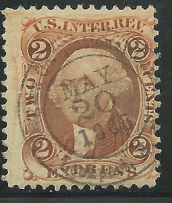 US Scott #R10c Revenue Stamp Nice CDS Cancel May 20, 1866