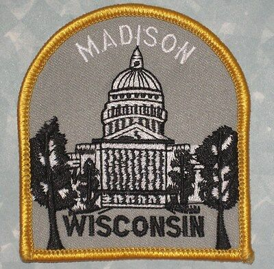 "Madison Wisconsin Patch - Travel Souvenir  - 3"" x 3 1/4""  - Capital"