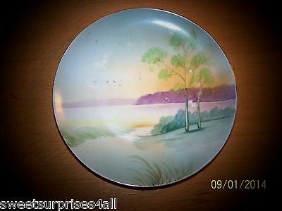 Vintage Meito China Japan Made Hand Painted Scenery Small Plate