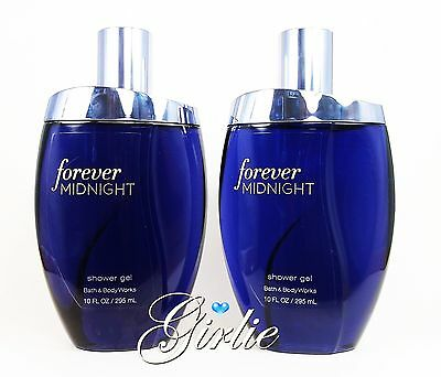 Set of 2 Bath & Body Works FOREVER MIDNIGHT Huge 10 oz Moisturizing Shower Gel