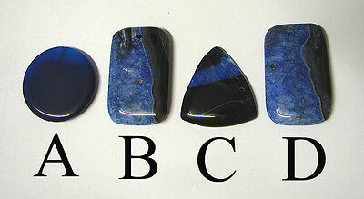 Choice of 4 : BLUE Druzy  banded Agate pendant bead DIY wire wrap jewellery