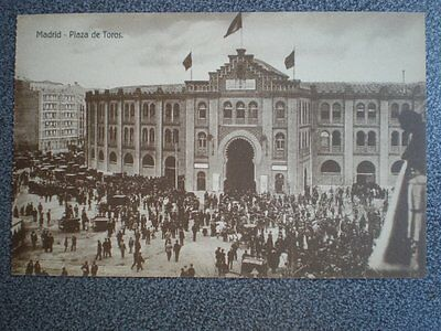 Madrid Plaza De Toros Postal Antigua