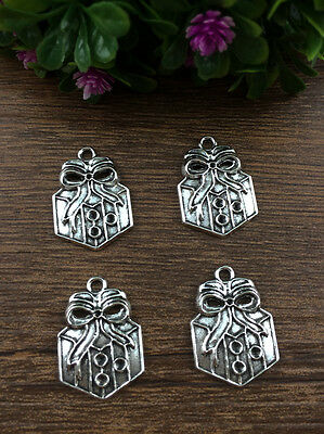 Vintage 6pcs Tibet silver Christmas Packs Pendant beaded Jewelry Findings Charm
