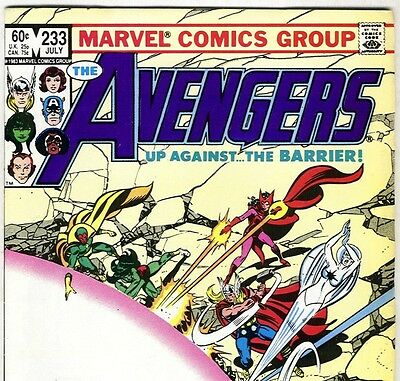 The AVENGERS #233 with Captain America & Thor from July 1983 in Fine con. DM