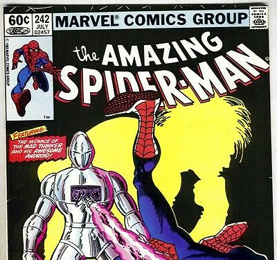 The Amazing Spider-Man #242 Awsome Android from July 1983 in VF- condition NS