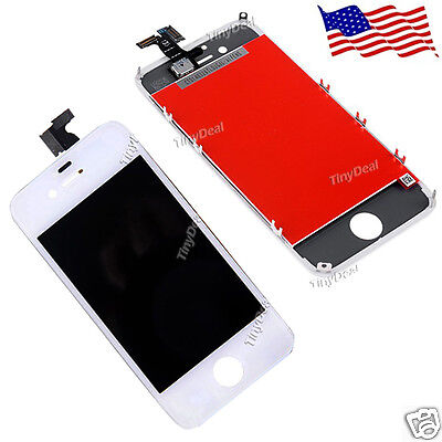 US White Replacement LCD Touch Screen Digitizer Glass Assembly for iPhone 4S
