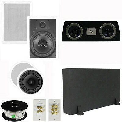 "5.1 Home Theater 8"" & 6.5"" Speakers, Center, 8"" Powered Sub & More TS6C8WC51SET1"