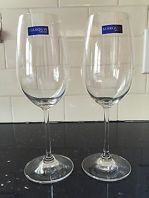 "Marquis by Waterford Crystal Wine Glass Set of 2, White 9""! NEW!!"