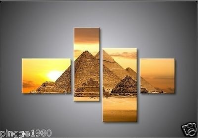 4pc NEW MODERN ABSTRACT HUGE WALL ART OIL PAINTING ON CANVAS (no framed) P016