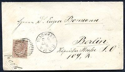 ITALY TO GERMANY Cover 1877, VF
