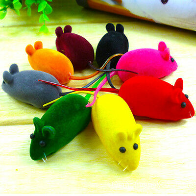 1pc Squeaky Squeaker Pet Cat Dog Puppy Palying False Mouse Rat Sound Chew Toy