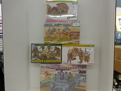 DML #6220 1/35 scale Flakpanzer I & 21 Soldiers & Cannons New in Original Boxes