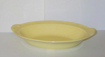 TS&T LuRay Pastels OVAL VEGETABLE SERVING BOWL DISH - yellow / Persian cream