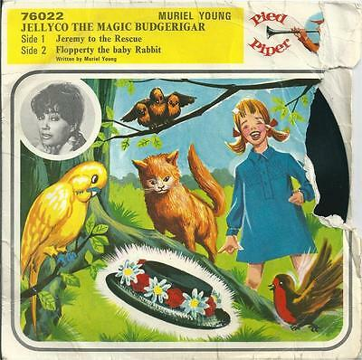 "Muriel Young - Jellyco The Magic Budgerigar -7"" Vinyl Ps 1967 Pied Piper Records"