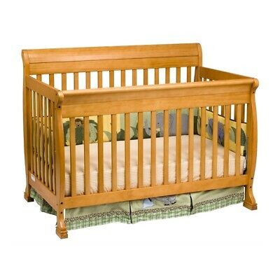DaVinci Kalani Honey Oak 4-in-1 Convertible Crib + Toddler Rail M5501O