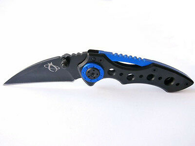 Black Knife Stainless Steel Saber Pocket Folding Camping Hunting tool HOT b jf4