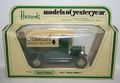 Vintage 1978 Matchbox Lesney Models of Yesteryear Y-12 1922 Ford Model T Harrods