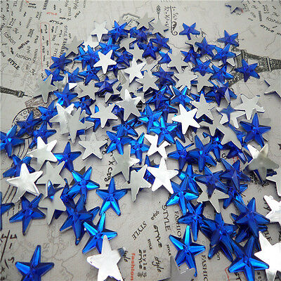 NEW DIY 50pcs Resin Pointed star  Flat back Scrapbooking For DIY craft FN06