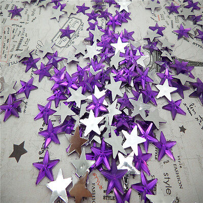 NEW DIY 50pcs Resin Pointed star  Flat back Scrapbooking For DIY craft FN09