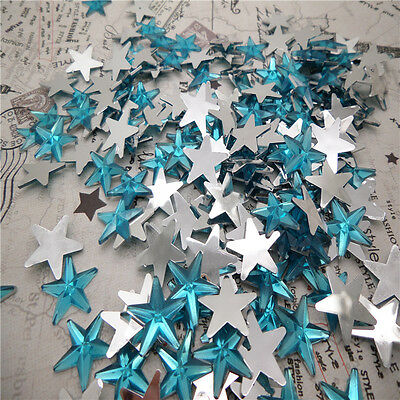 NEW DIY 50pcs Resin Pointed star  Flat back Scrapbooking For DIY craft FN03