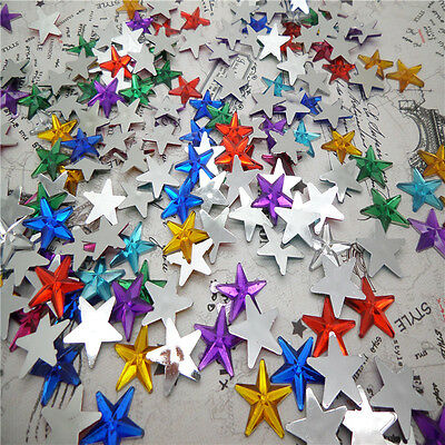 NEW DIY 50pcs Resin Pointed star  Flat back Scrapbooking For DIY craft FN04