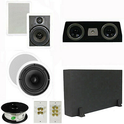 "5.1 Home Theater 8"" & 6.5"" Speakers, Center, 8"" Powered Sub & More TS6W8CC51SET1"