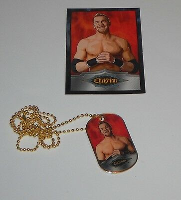 CHRISTIAN  2010 Topps WWE DogTags GOLD Parallel