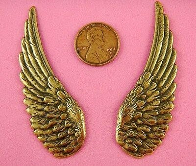 LG VINTAGE DESIGN ANTIQUE BRASS WING PAIR-2 PC(s)