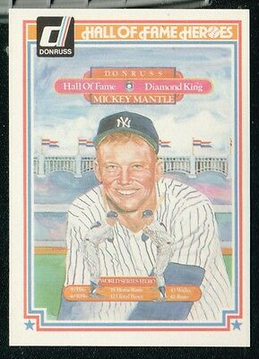 MICKEY MANTLE 1983 DONRUSS HALL OF FAME PUZZLE CARD!!