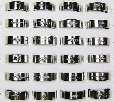 wholesale jewelry lots 20pcs fashion stainless steel rings new free shipping